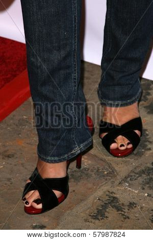 Bonnie Somerville's shoes  at the NYLON Magazine Party Celebrating the Launch of their TV issue. The Roosevelt Hotel, Hollywood, CA. 09-04-08