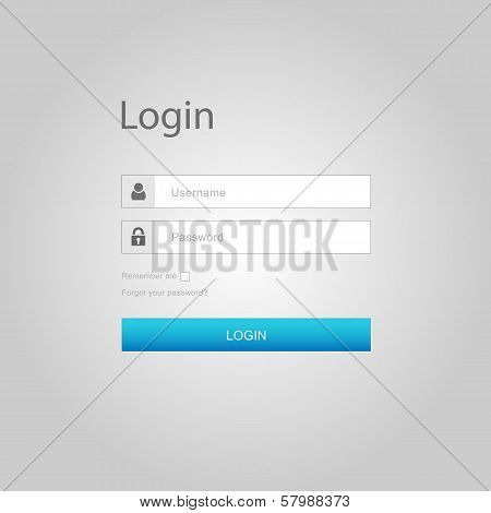 Vector login interface - username and password