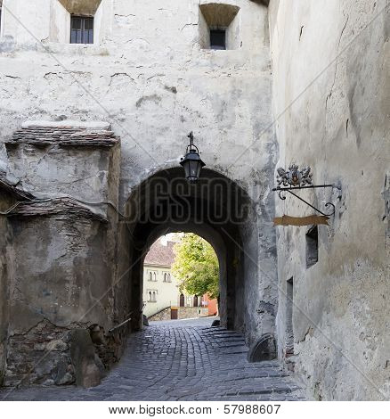 Street of medieval town