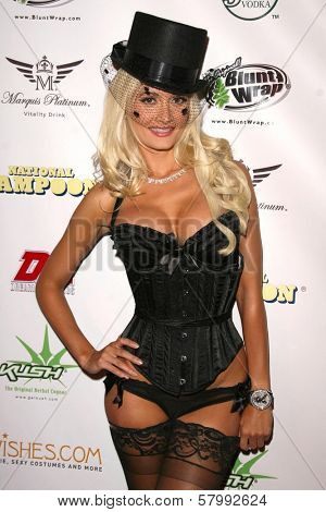 Holly Madison  at National Lampoon's 'The Great American Fantasy'. Playboy Mansion, Holmby Hills, CA. 09-06-08