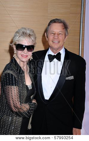 Michael York and wife Patricia  at the Opening Night of the LA Opera 2008-09 Season. Dorothy Chandler Pavilion, Los Angeles CA. 09-06-08