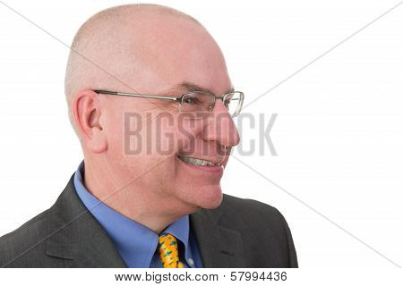Middle-aged Businessman Giving A Wry Smile