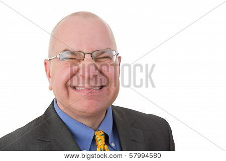 Disdainful Businessman Grimacing In Disgust