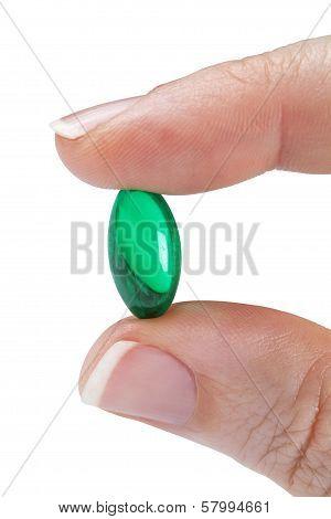 Small green gelcap