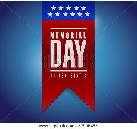 Memorial Day Banner Sign Illustration Design