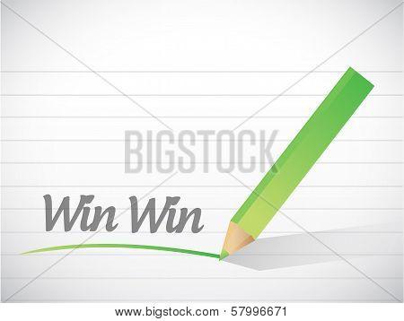 Win Win Message Illustration Design