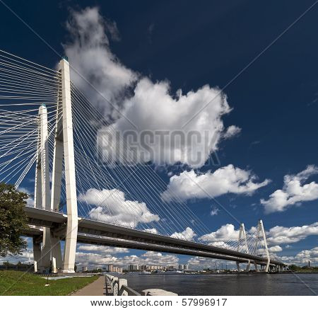 Cable-stayed Bridge View From The Quay