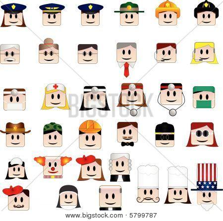 34 Avatares de profissão