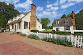 Two Buildings On Duke Of Gloucester Street In Colonial Williamsburg