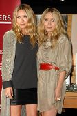 Mary-Kate Olsen and Ashley Olsen  at an in store appearance to sign copies of the new book 'Influenc