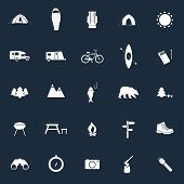 image of sleeping bag  - Set of camping icons - JPG