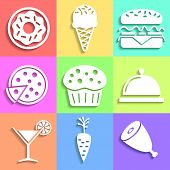Set of flat Food icons