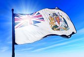 British Antarctic Territory (UK) flag waving on the wind
