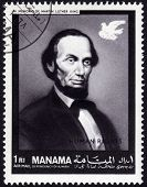 Postage Stamp Showing Abraham Lincoln