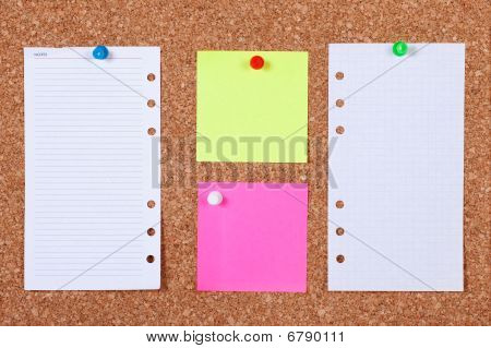 Notes On Corkboard