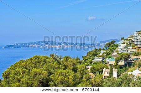 Village Of Eze On French Riviera