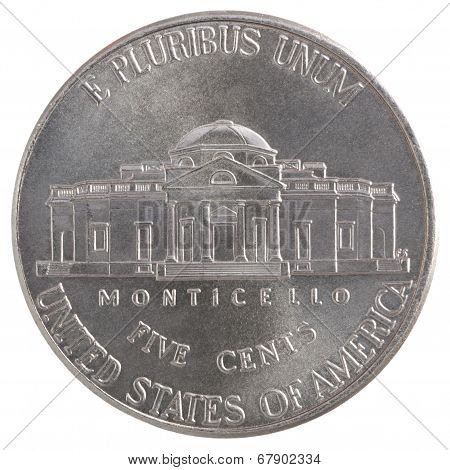 Five Cent Coin Liberty United States