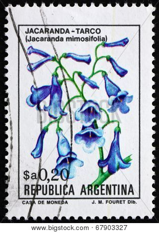 Postage Stamp Argentina 1983 Blue Jacaranda, Sub-tropical Tree