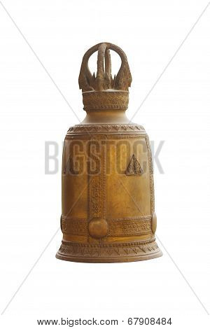 Bronz Bell Isolated On White Background