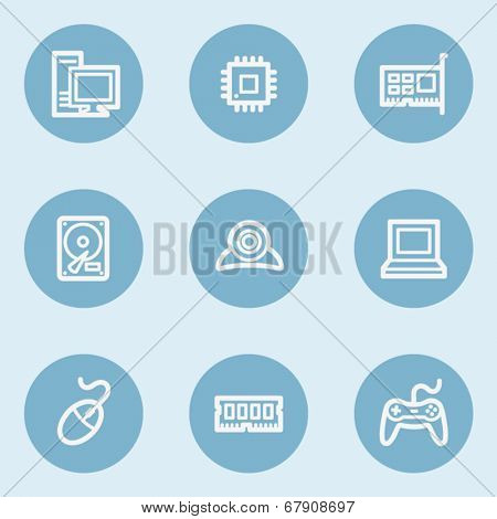 Computer web icons,  blue buttons