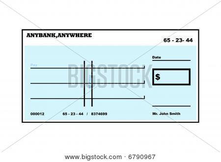 Blank American Check