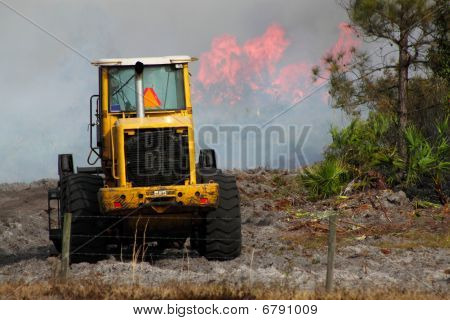 Earthmover And Flames