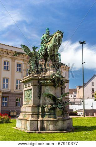 Monument To Kaiser-wilhelm-denkmal In Dusseldorf, Germany