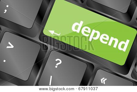Depend Button On Computer Pc Keyboard Key