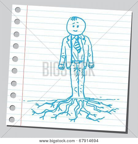 Businessman with root