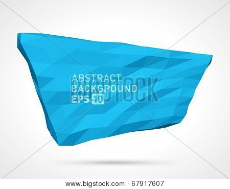Abstract vector background. 3d origami polygonal speech bubble geometric design.
