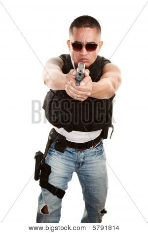 Tough Latino Cop