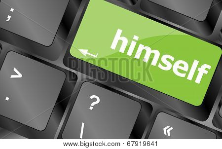 Himself Word On Computer Pc Keyboard Key