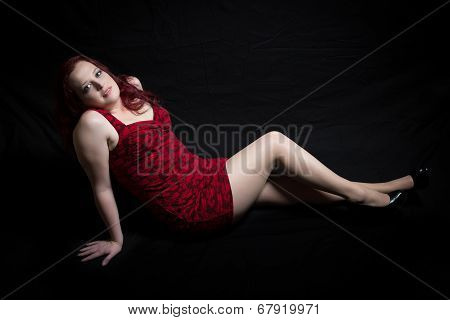 Mature Red Head Model