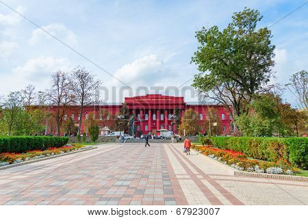 Main Red Building Of National University Of Kiev, Ukraine