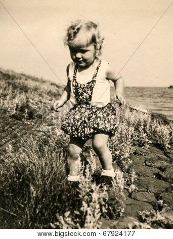 GERMANY, CIRCA 1953 - vintage photo of baby girl