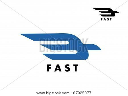 Fast delivery or ail mail icon