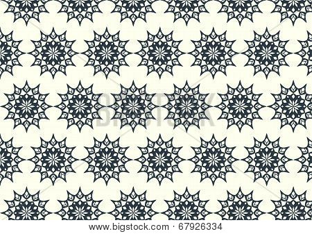 Modern Classic Flower And Lobe And Leaves Seamless Pattern