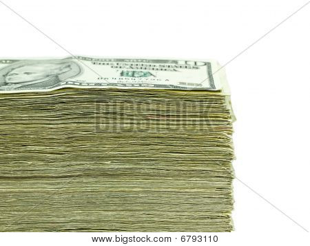 Stack Of United States Currency Background - Ten Dollar Bills