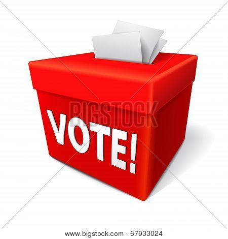 Vote Word On The Red Box