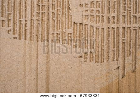Cardboard Corrugated Pattern Background, Vertical