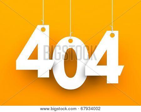 404 error. Page not found.