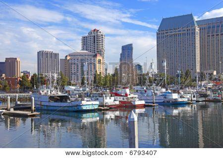 A marina, San Diego California.