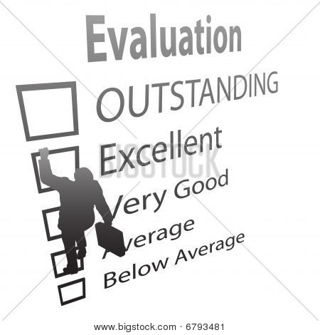Business Employee Climbs Up Evalution Improvement Form
