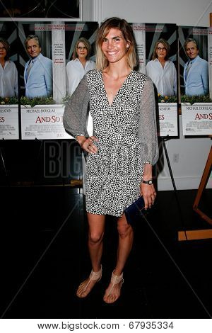 EAST HAMPTON, NEW YORK-JULY 6: Model Delfina Blaquier attends the premiere of