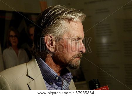EAST HAMPTON, NEW YORK-JULY 6: Actor Michael Douglas attends the premiere of