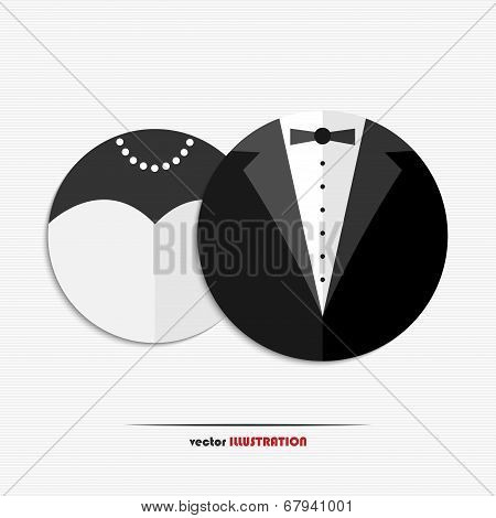 Abstract Bride And Groom Web Icons