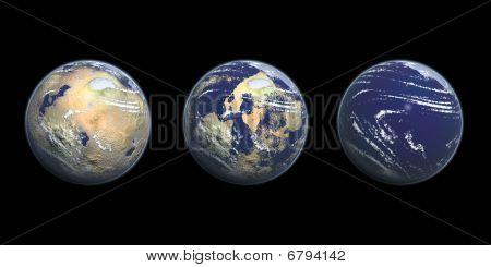 Ilustración gráfica 3D de calentamiento global