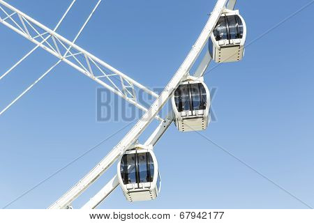 Brisbane Ferris Wheel carriages at Southbank