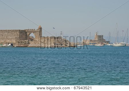 In the harbor of Rhodes