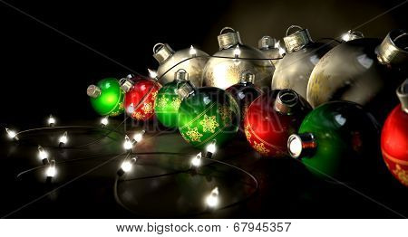 Ornate Christmas Decorations And Lights